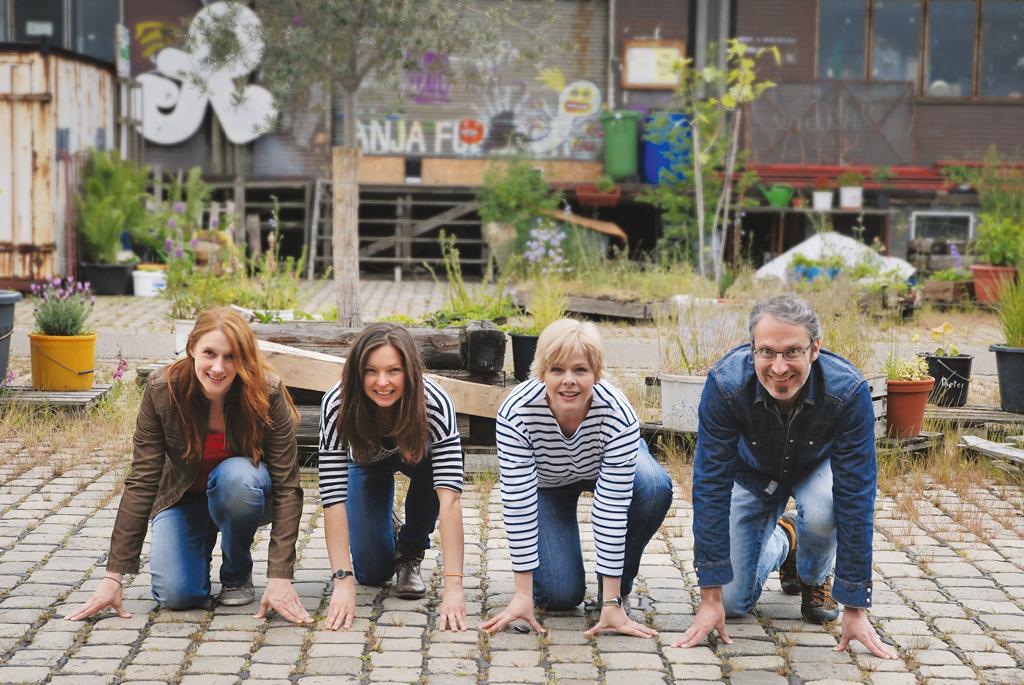 Das Team: Steffi Urban, Annica Müllenberg, Kerstin Graf, Ulrich Graf-Nottrodt