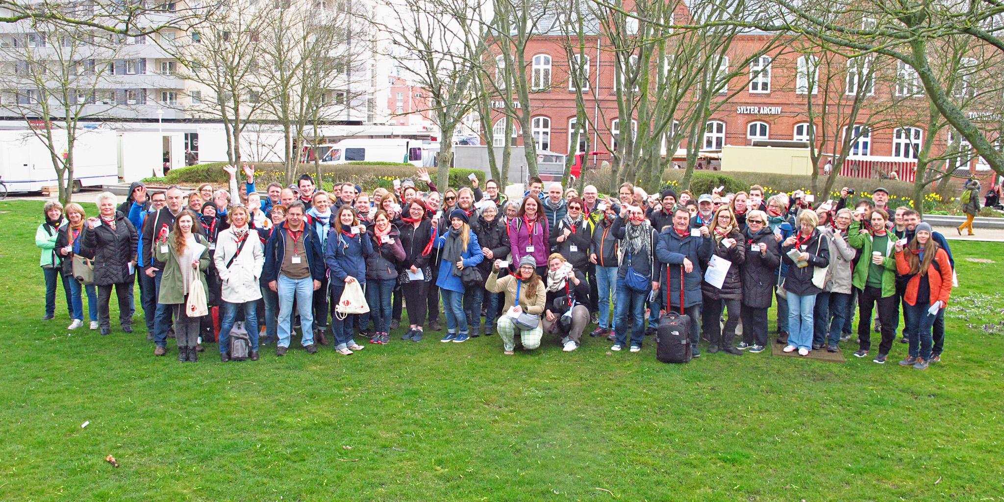 Alle 80 Teilnehmer des ersten Fotomarathons auf Sylt.