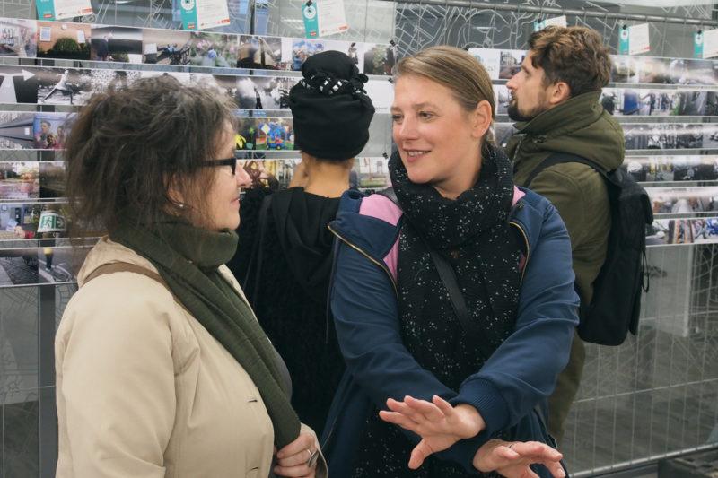 Jurymitglied und Preisträgerin im Gespräch